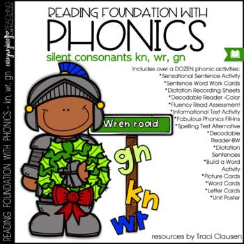 Phonics - SILENT CONSONANTS - Reading Foundational Skills (KN, WR, GN)