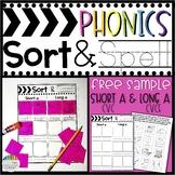 Phonics SORT & SPELL: Short A CVC & Long A CVCe FREE Sample!