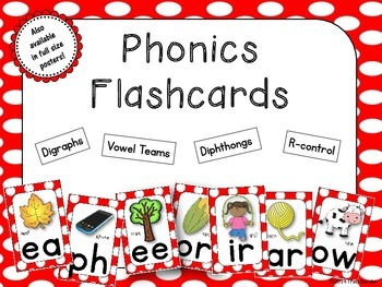Phonics SOUND FLASHCARDS {Red}