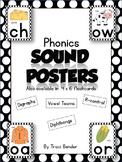 Phonics SOUND POSTERS {Black}