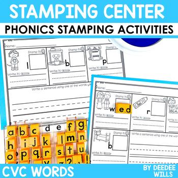 Phonics STAMPING Center ~ CVC Short Sounds!