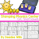 Phonics STAMPING Center ~ CVC Short Sounds!