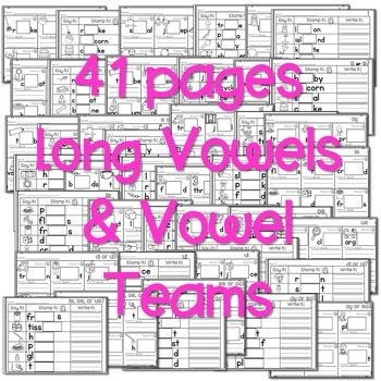 Phonics STAMPING Center ~ Long Vowels and Vowel Teams