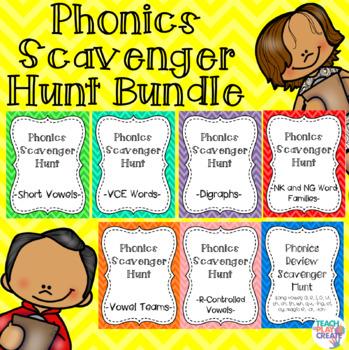 Phonics Scavenger Hunt Bundle