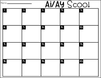 Phonics Scoot: Ai/Ay