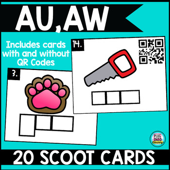 Phonics Scoot: Au & Aw