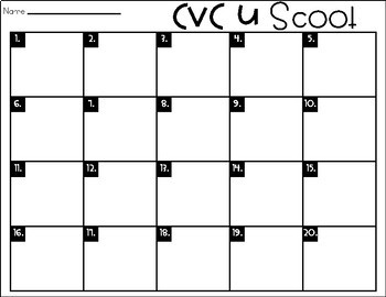 Phonics Scoot: CVC U