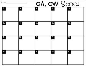 Phonics Scoot: Oa,Ow
