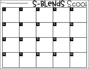 Phonics Scoot: S-Blends