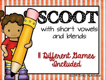 Phonics Scoot: Short Vowels and Blends