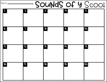 Phonics Scoot: Sounds of Y