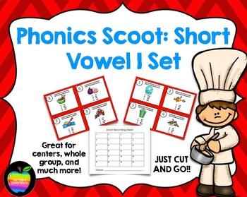 Phonics Scoot Task Cards: Short Vowel I Set