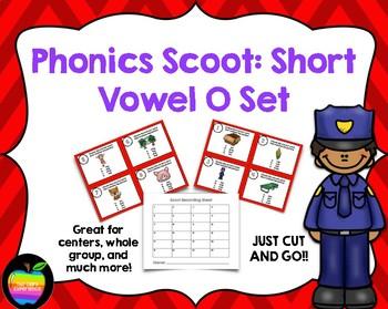Phonics Scoot Task Cards: Short Vowel O Set