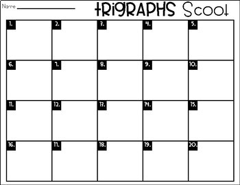Phonics Scoot: Trigraphs
