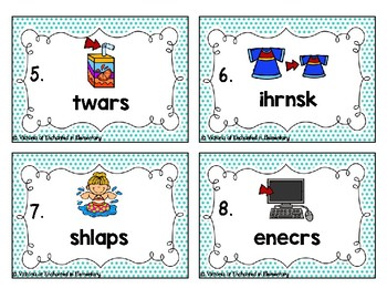 Phonics Scrambles Task Cards: Beginning Trigraphs Set