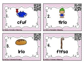 Phonics Scrambles Task Cards: Double Consonants Set