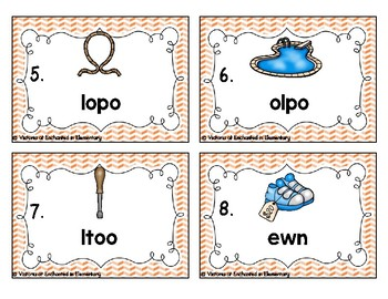 Phonics Scrambles Task Cards: Ew and oo Set