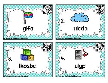 Phonics Scrambles Task Cards: L-Blends Set