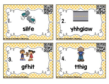 Phonics Scrambles Task Cards: Long I Vowel Teams Set