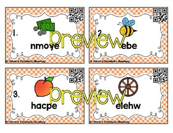 Phonics Scrambles Task Cards: Long Vowel Teams Bundle