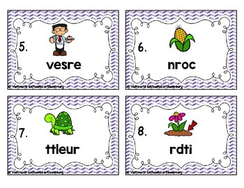 Phonics Scrambles Task Cards: R-Controlled Vowels Set