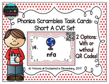 Phonics Scrambles Task Cards: Short A CVC Set