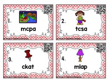 Phonics Scrambles Task Cards: Short A Word Families Set