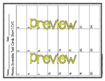 Phonics Scrambles Task Cards: Short Vowel CVC Bundle