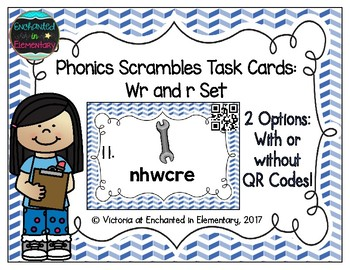 Phonics Scrambles Task Cards: Wr and R Set