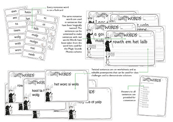 Phonics Challenges: Twisted Nonsense Words