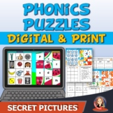 Phonics Secret Picture Puzzles Digital and Print for Dista