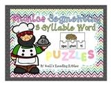 Phonics Segmenting 3 Syllable Word Puzzles