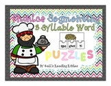 Phonics Segmenting 3 Syllable Word Puzzles
