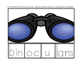 Phonics Segmenting  4 Syllable Word Puzzles