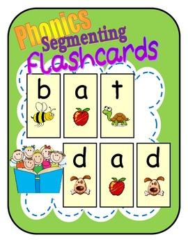 "FREE Phonics Segmenting Flashcards / Short ""A"" (RF.K.2d)"