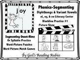 Phonics-Segmenting Diphthongs & Variant Vowels oi, oy, & oo  Blackline