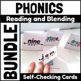 Phonics Self Checking Reading and Blending Cards Bundle