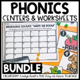 Phonics Worksheets and Sensory Bins Bundle