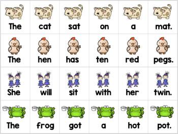 Phonics Sentence Cards Comprehension BUNDLE