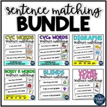 Phonics Sentence Matching BUNDLE