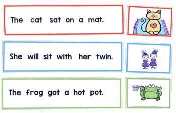 Phonics Sentence Picture Match Up Cards