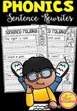 Phonics Sentence Rewrites in Queensland Beginners Font ACARA Aligned