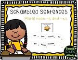 Phonics Sentence Scramble Plural Nouns -s, -es
