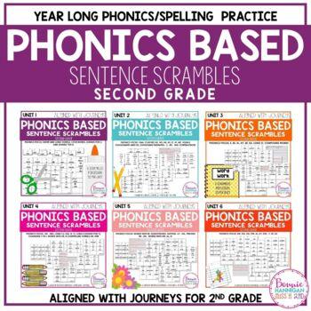 Phonics Sentence Scrambles Bundle