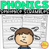 Phonics Sentence Scrambles for Kindergarten and First Grade