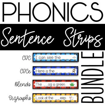 Phonics Sentence Strips Bundle