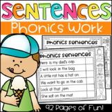Phonics Sentences Worksheets - CVC, Long Vowels, Digraphs, Blends & More!