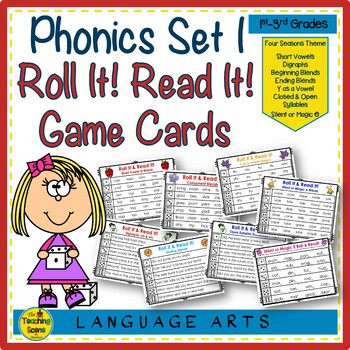 Phonics Set 1: Roll It! Read It! Game Cards