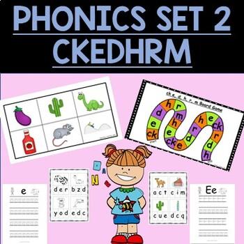 Phonics Set 2 Activity Pack CK,E,M,H,R,D