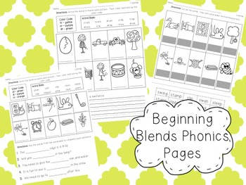 Phonics Set for Beginning Blends